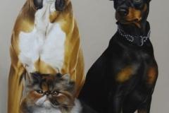 pintura-caes-e-gatos-artista-elton-brunetti
