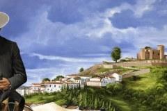 Pintura-de-Andaluzia-Espanha-com-cavalos-e-touro-por-Elton-Brunetti-image-05