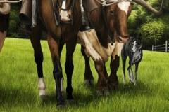 Pintura-de-Andaluzia-Espanha-com-cavalos-e-touro-por-Elton-Brunetti-image-06