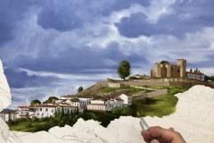 Pintura-de-Andaluzia-Espanha-com-cavalos-e-touro-por-Elton-Brunetti-image-08