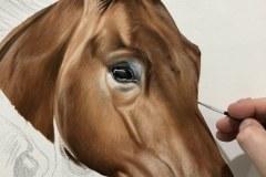 Pintura-em-tela-de-tres-cavalos-por-Elton-Brunetti-foto-1