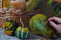 pintura-cesto-com-morangas-e-girassol-artista-elton-brunetti-02