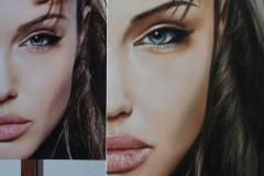 pintura-de-retrato-Angelina-Jolie-por-Elton-Brunetti