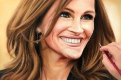 pintura-de-retrato-Julia-Roberts-por-Elton-Brunetti