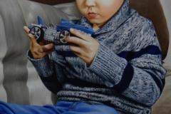 pintura-de-retrato-Pedro-Henrique-brincando-por-Elton-Brunetti