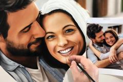 pintura-de-retrato-de-casal-por-Elton-Brunetti