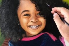 pintura-de-retrato-infantil-cabelo-cacheado-por-Elton-Brunetti