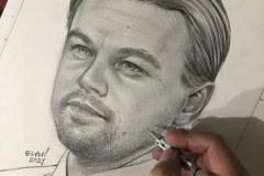 Desenho-para-pintura-de-Leonardo-DiCaprio-por-Elton-Brunetti