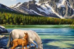 obra-Paisagem-com-Cavalos-óleo-sobre-tela-artista-elton-brunetti-deatlhes-02