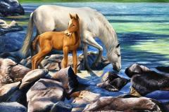 obra-Paisagem-com-Cavalos-óleo-sobre-tela-artista-elton-brunetti-deatlhes-05