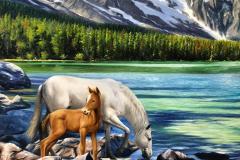 obra-Paisagem-com-Cavalos-óleo-sobre-tela-artista-elton-brunetti-deatlhes-06