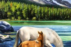 obra-Paisagem-com-Cavalos-óleo-sobre-tela-artista-elton-brunetti-deatlhes-09