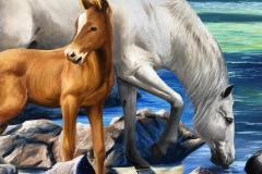 obra-Paisagem-com-Cavalos-óleo-sobre-tela-artista-elton-brunetti-deatlhes-10