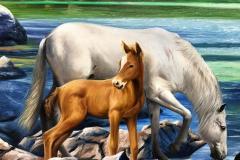obra-Paisagem-com-Cavalos-óleo-sobre-tela-artista-elton-brunetti-deatlhes-11
