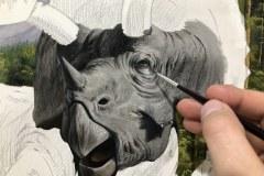 Pintura-Tiranossauro-e-Triceratops-por-Elton-Brunetti-03