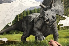 Pintura-Tiranossauro-e-Triceratops-por-Elton-Brunetti-04