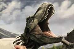 Pintura-Tiranossauro-e-Triceratops-por-Elton-Brunetti-05