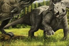 Pintura-Tiranossauro-e-Triceratops-por-Elton-Brunetti-09