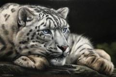 Pintura-tela-Leopardo-das-Neves-por-Elton-Brunetti