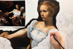 estudo-pintura-caravaggio-Judite-e-Holofernes-05
