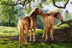 Pintura-de-Cavalos-Haflinger-70-x-100-cm-por-Elton-Brunetti