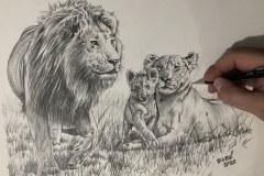 Pintura-Familia-de-Leoes-por-Elton-Brunetti-01