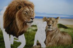 Pintura-Familia-de-Leoes-por-Elton-Brunetti-03