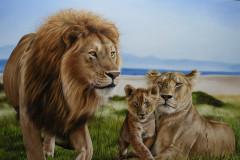 Pintura-Familia-de-Leoes-por-Elton-Brunetti-05