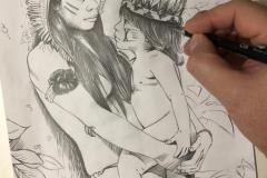 Pintura-Retrato-Indigena-Elton-Bruneti-01