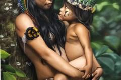 Pintura-Retrato-Indigena-Elton-Bruneti