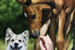 pintura-de-um-cavalo-com-cachorro-por-Elton-Brunetti-08